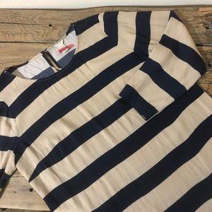 3/4 Length Sleeve Striped J. Crew Blouse